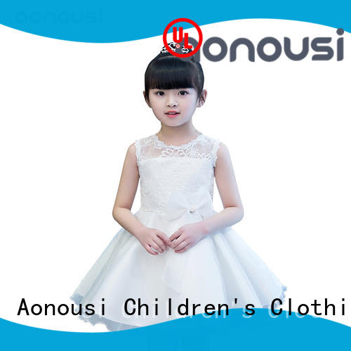 Aonousi excellent custom made kids clothes flower for girls