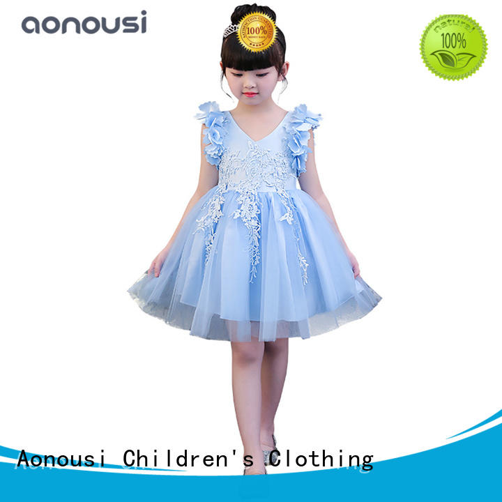 Aonousi New party wear dresses for small girl factory