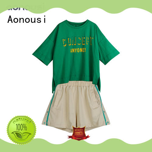 Aonousi autumn baby girl set clothes factory for kids